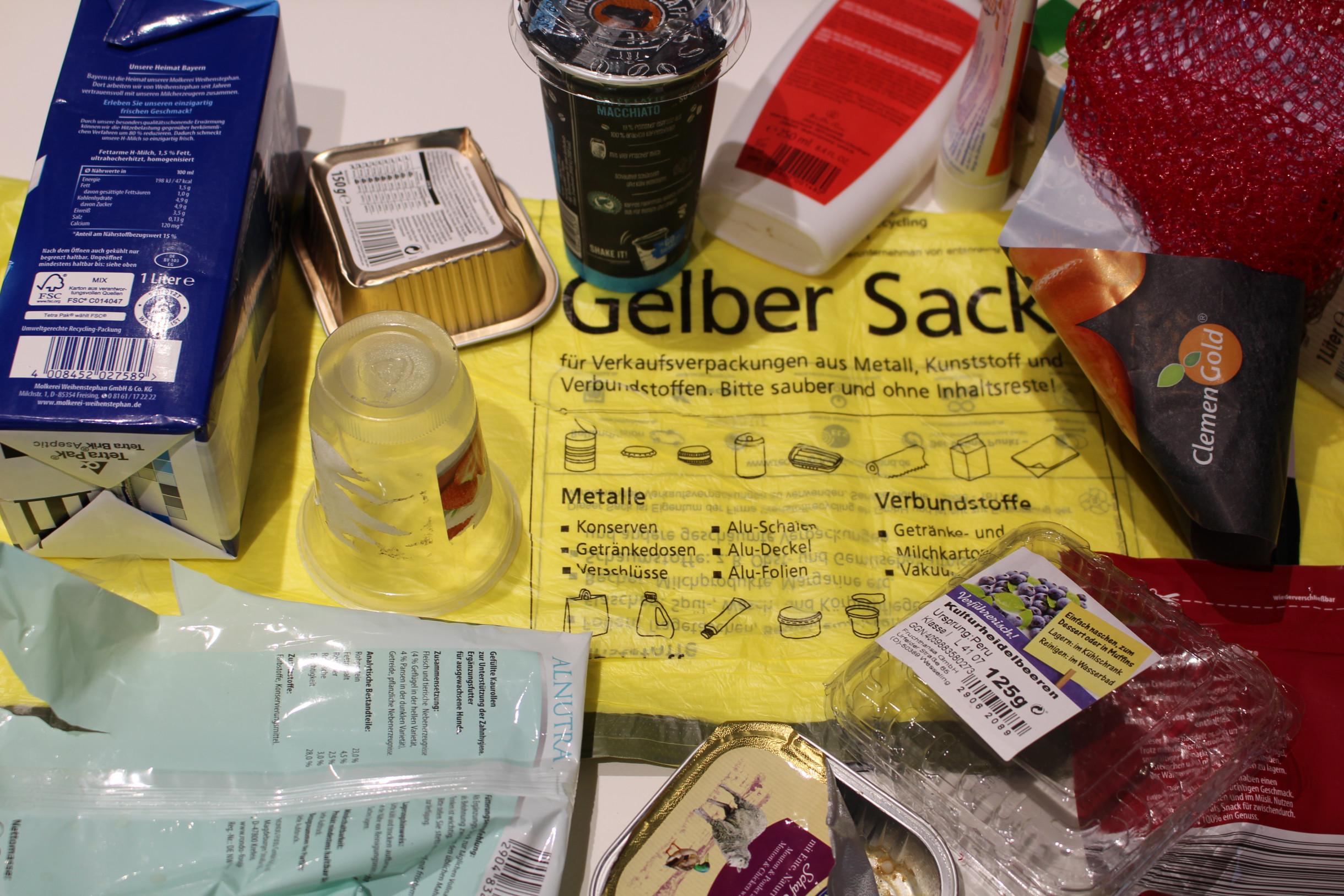 Leichtstoffverpackungen für den Gelben Sack