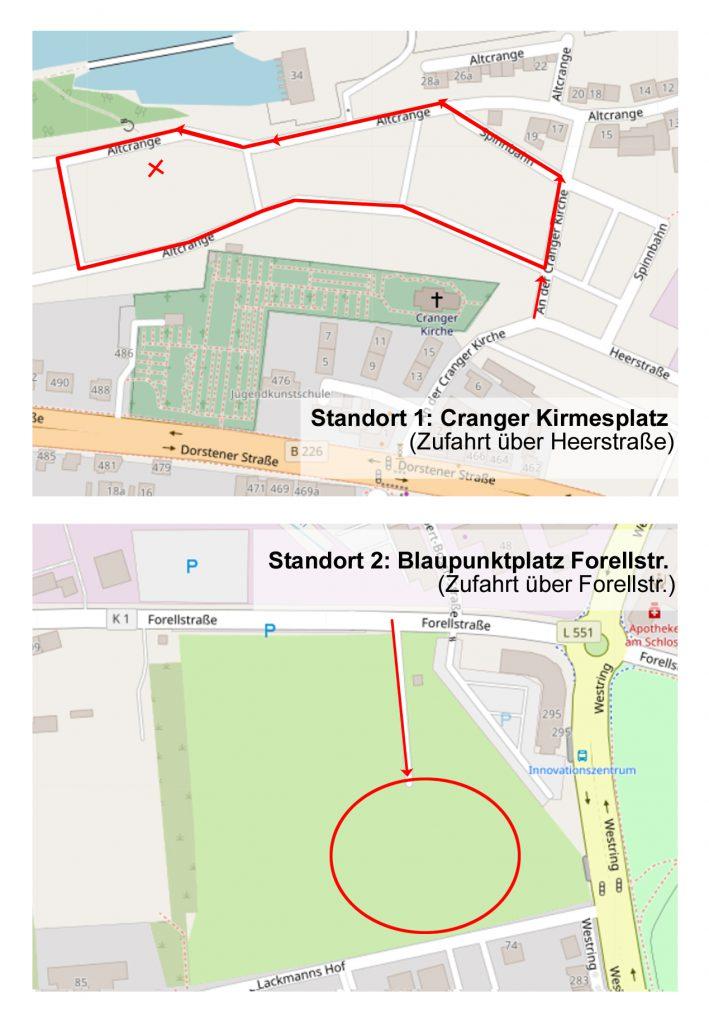 Standorte der Sonderaktionen Sperrmüll